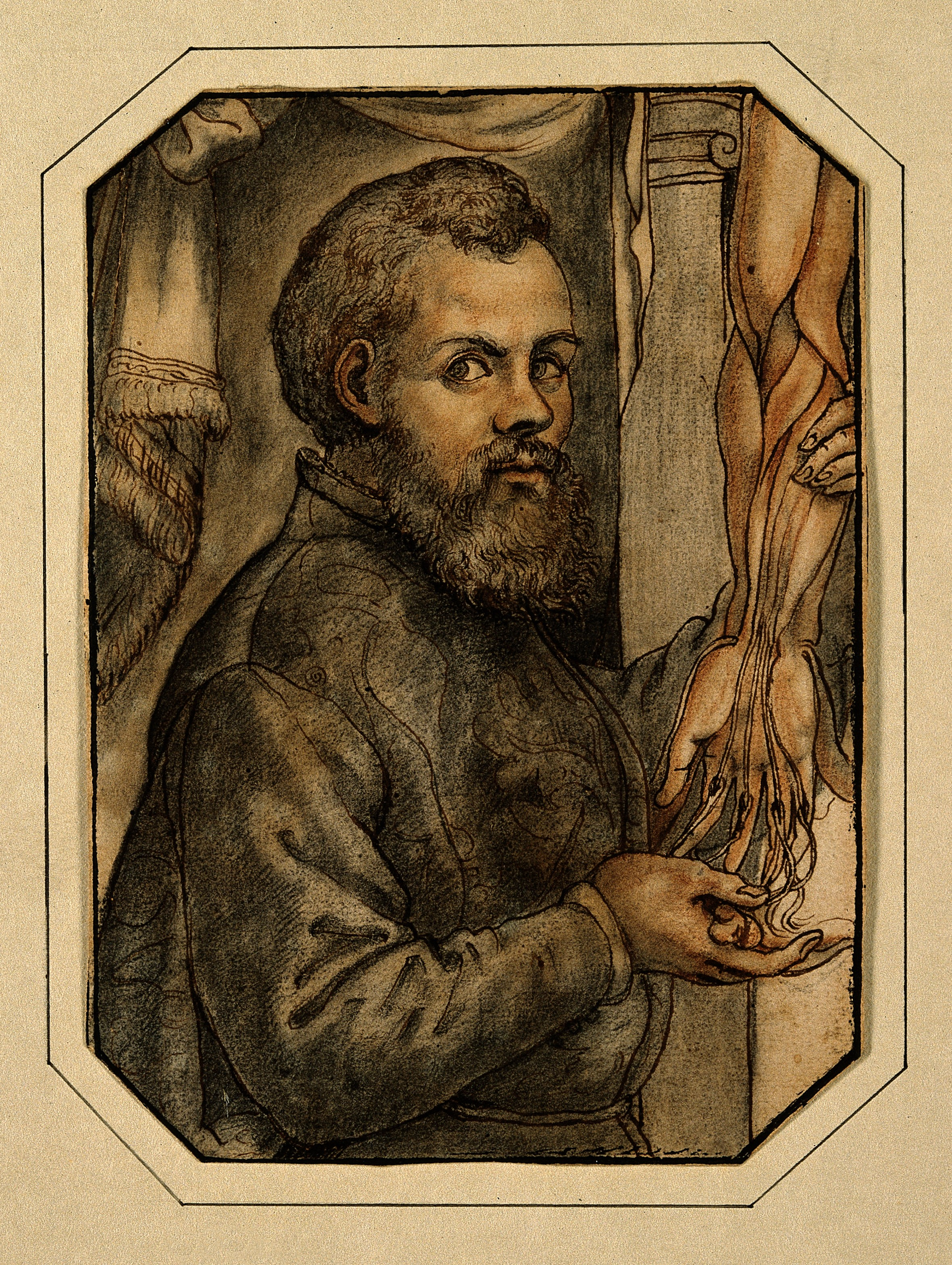 V0006032 Portrait of Andreas Vesalius (1514 - 1564), Flemish anatomist Credit: Wellcome Library, London. Wellcome Images images@wellcome.ac.uk http://wellcomeimages.org Portrait of Andreas Vesalius (1514 - 1564), Flemish anatomist Watercolour Published: - Copyrighted work available under Creative Commons Attribution only licence CC BY 4.0 http://creativecommons.org/licenses/by/4.0/