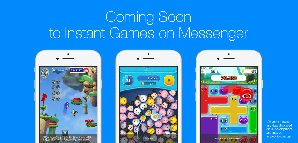 Upcoming Facebook Messenger Games