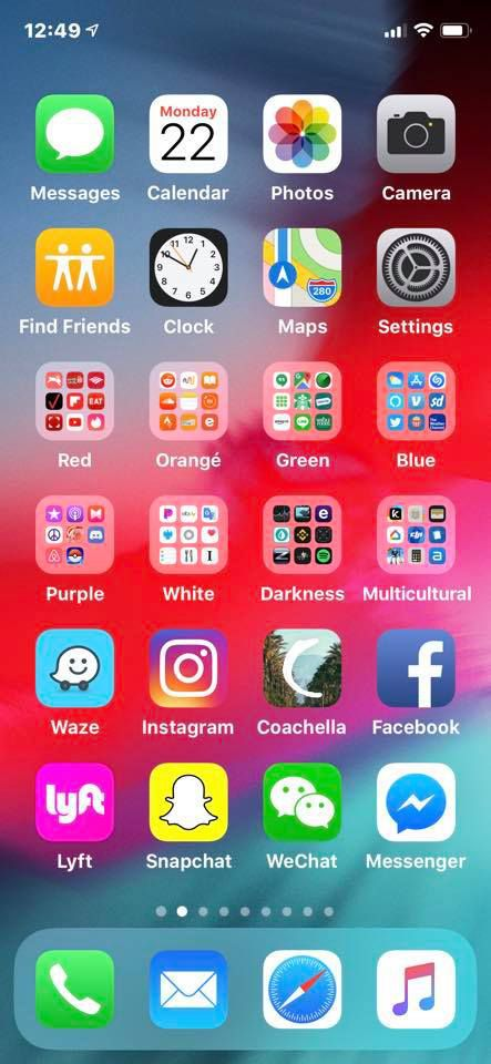 Iphone Home Screen Layout Icons