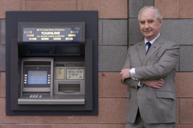 Inventor of the cash dispenser