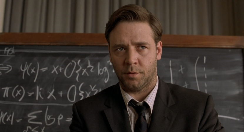 راسل كرو في فيلم A Beautiful Mind