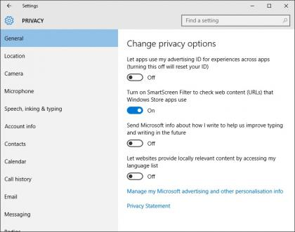 Fix privacy windows 10