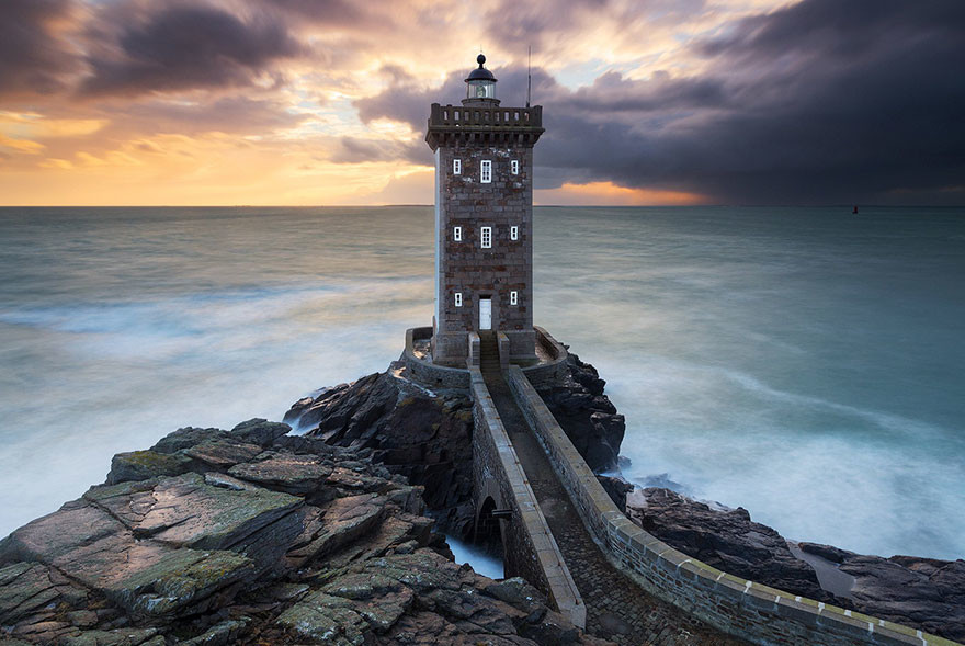 Kermorvan Lighthouse, Bretagne, France