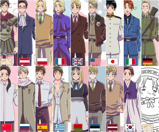 انمي Hetalia Axis Powers