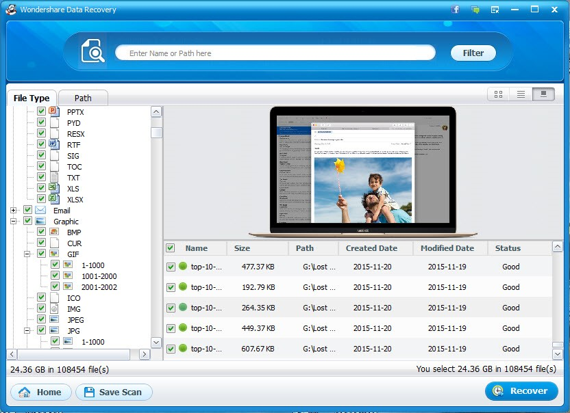 wondershare data recovery 4